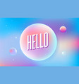 colored bubbles with reflection set on background vector image vector image
