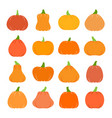 colorful flat halloween pumpkin icon set vector image vector image