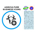 cow create rounded icon with set vector image vector image