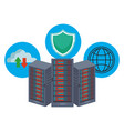 database storage with icons vector image vector image