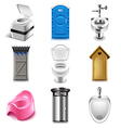Different toilets icons set vector image vector image