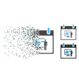 dispersed pixelated halftone realty developer vector image vector image