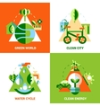 Ecology Design Concept Set vector image vector image