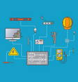 electricity engineering infographic in flat design vector image vector image