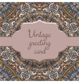ethnic vintage ornamental card template vector image vector image