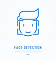 face detection thin line icon vector image