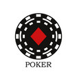 fish poker icon vector image vector image