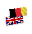 flags belgium and great britain on a white vector image