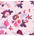 Floral seamless pattern with with monochrome and vector image vector image