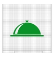 Food cover icon vector image vector image