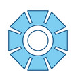 Gear machinery symbol vector image