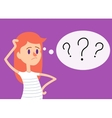 Girl has many questions vector image vector image