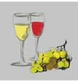 grape and glass vector image vector image