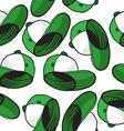green cap pattern vector image vector image