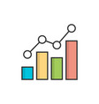 growing bar graph vector image vector image