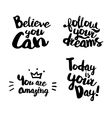 Hand lettering set for souvenirs vector image