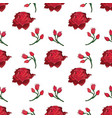 handdrawn rose and rosebud seamless pattern vector image vector image