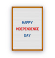 happy usa independence day letterboard greeting vector image vector image