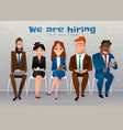human resources interview recruitment job concept vector image