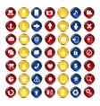 Internet and Communication icons button vector image