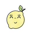 kawaii nice happy lemon fruit vector image vector image