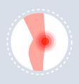 knee injury feeling joint pain human leg icon vector image vector image