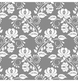 Lace rose on gray background vector image vector image