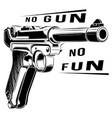 luger p08 parabellum retro pistol pistol vector image vector image