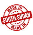 made in south sudan red grunge round stamp vector image vector image