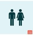 Man woman icon vector image vector image