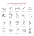 Modern thin line of icons on medicine vector image vector image