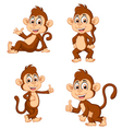 monkey many expressions vector image vector image
