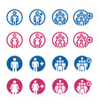 people and population icon vector image vector image
