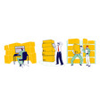 physical inventory count management storekeeper vector image
