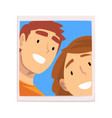 portrait loving guy and girl happy smiling vector image vector image
