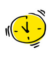 ringing alarm clock simple in flat style vector image vector image