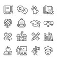 school college or university education linear vector image