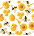 Seamless honey bee pattern