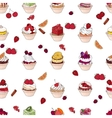 Seamless pattern wit different kinds of fruit vector image vector image