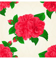 seamless texture camellia japonica red flowers vector image vector image