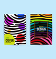 set design poster in color rainbow stripes on vector image vector image