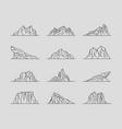 set mountains line art logo design vector image vector image
