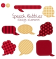 set of different speech bubbles design elements vector image