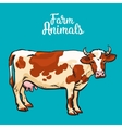 Set of farm animals on the white background vector image vector image