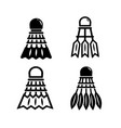 shuttlecock icon set vector image