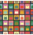Silhouettes of handbag flat iconsSeamless vector image