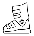 ski boots icon outline style vector image vector image