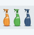 spray container cleaner on a transparent vector image vector image