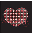 stylish valentines day background vector image vector image