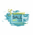 summer sale template grunge brush blue paint vector image vector image